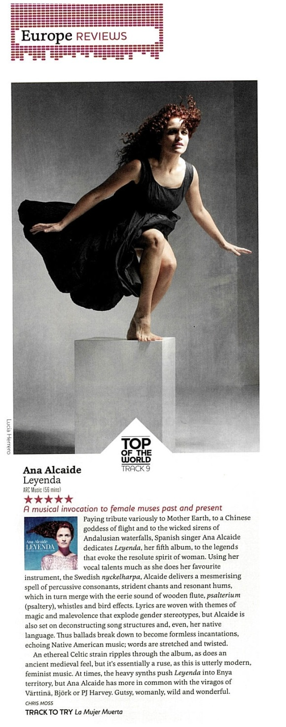 ANA ALCAIDE TO OF THE WORLD SONGLINES MAGAZINE